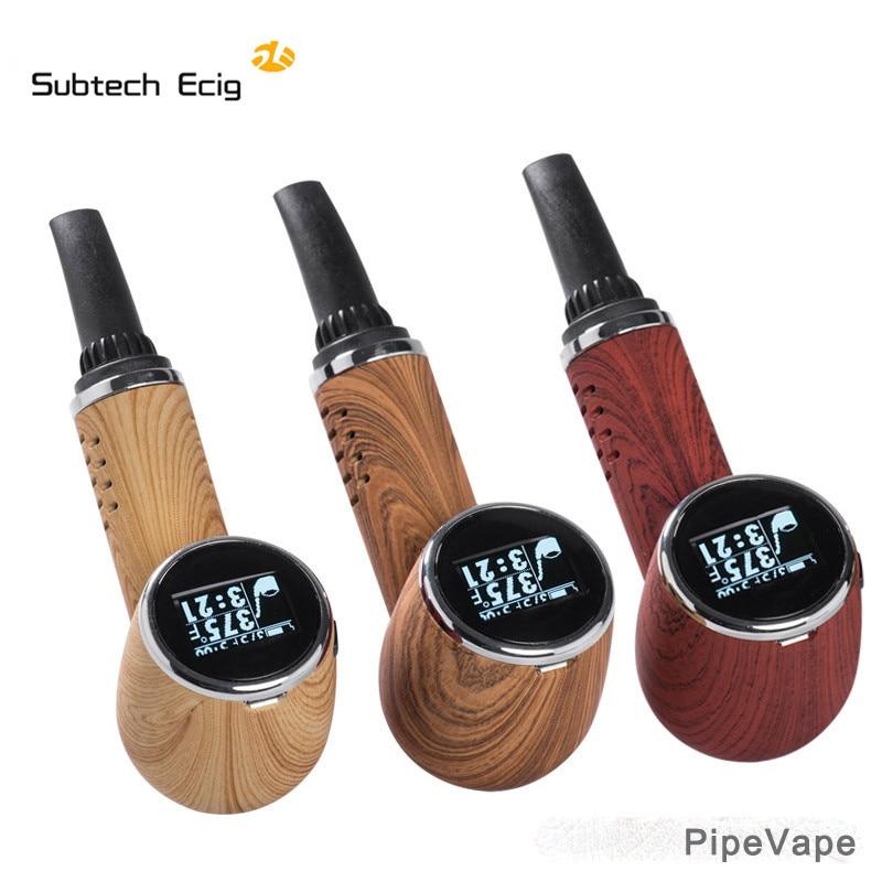 Herbe sèche vaporisateur tuyau Vape kit e cigarettes vape stylo herbe sèche contrôle de la température écran LED tabac intégré 1000 mah batterie