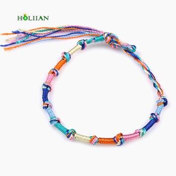 Fashion brazilian bracelet multicolor braided boho chain bohemian tassel strain handmade sport chain friendship bracelets unisex