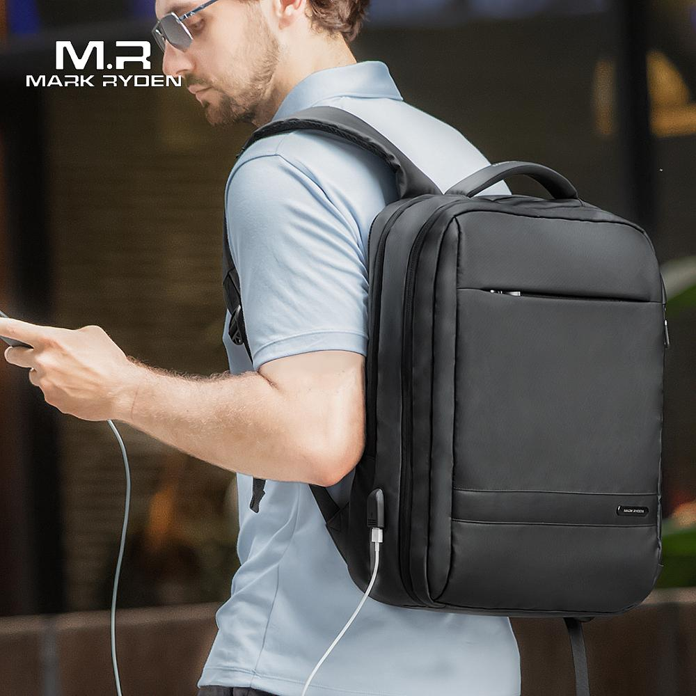 USB Backpack Laptop-Bags School-Bag Anti-Thief Mark-Ryden Travel Mochila Male Men