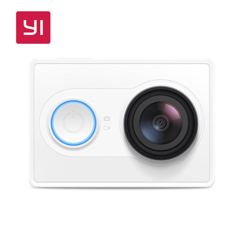 YI 1080P Action Camera White 16.0MP 155 degree Ultra-wide Angle Lens 60/30fps 3D Noise Reduction Mini Sport Camera Built-in WiFi [hk stock][official international version] xiaoyi yi 3 axis handheld gimbal stabilizer yi 4k action camera kit ambarella a9se75 sony imx377 12mp 155‎ degree 1400mah eis ldc sport camera black