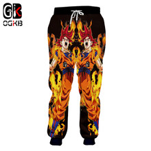 OGKB Nieuwe Harajuku Mannen/Vrouwen Joggingbroek Mode Print Anime Dragon Ball Z Super Goku Casual Joggingbroeken Joggers Broek plus 5xl(China)
