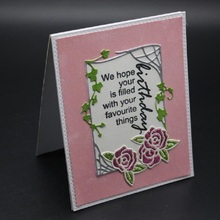 Glita Creatif rose frame dies for scrapbooking DIY albulm photo decorative card making paper craft stamps with new arrival