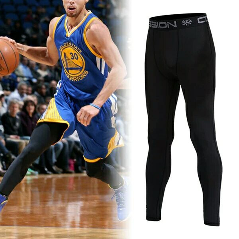 Vansydical Sport Leggings Menu0026#39;s Compression Tights Fitness Training Quick Dry Basketball ...