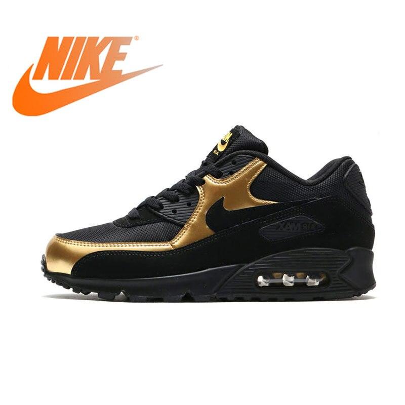 Original authentique NIKE AIR MAX 90 chaussures pour hommes nouvelle marque noir chaussures de course confortables chaussures de sport respirantes 537384