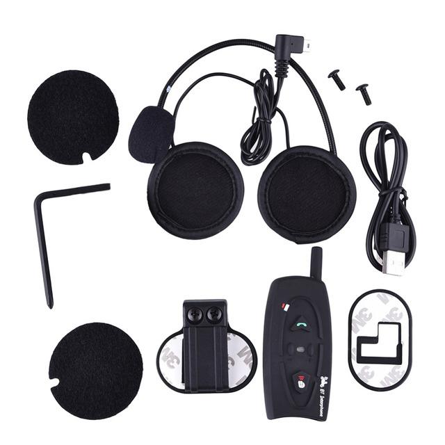 Motocicleta moto v2-500 bluetooth headset intercomunicador del casco de auriculares para responder automáticamente para accesorios de motos motos 2017