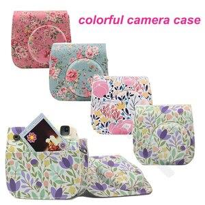 Image 1 - Fujifilm Instax Mini Camera Kleurrijke Case Voor Fuji Instax Mini 9 8 Camera Met Pu Leer Rose Blauw Roze, bos Groen Roze