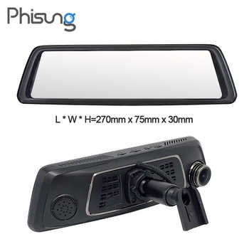 "Phisung V9 10\""Full Touch IPS 4G Android Mirror GPS FHD 1080P Dual lens Car DVR vehicle rearview mirror camera ADAS BT WIFI"