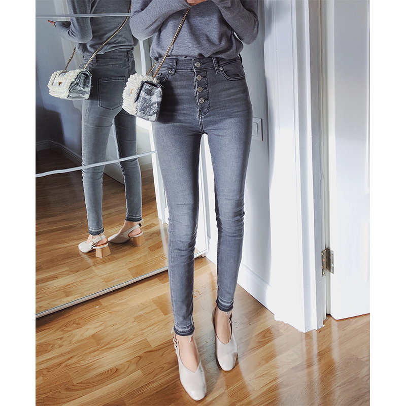 MISHOW High Waist   Jeans   for Women Spring Autumn High Waisted Skinny   Jeans   Woman Pencil Denim Pants Female MX18D2349
