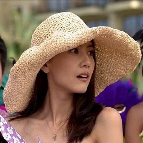 Sombreros de verano 2016 nuevo tejido a mano tejidas vacaciones playa de ala ancha mujeres sombrero de paja casquillos ocasionales Solid Sun Hat Cap Wholesale