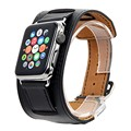 V-moro smart watch cinta cuff de couro bracelete de couro genuíno cinta banda para apple watch 38mm 42mm