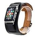 V-moro smart watch correa brazalete pulsera brazalete de cuero genuino correa de la banda de cuero para apple watch 38mm 42mm