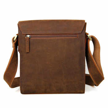 Retro Genuine Leather Messenger Bag Men\'s Quality Original First Layer Cowhide Bag Casual Business Simple Design Brand Package