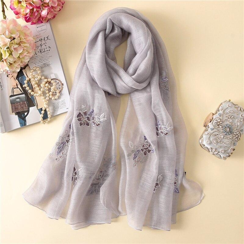 Nouveau foulard en laine de soie femmes mode floal imprimé châle wrap grand pashmina foulaed bandana masque visage hiver cou écharpes hijab