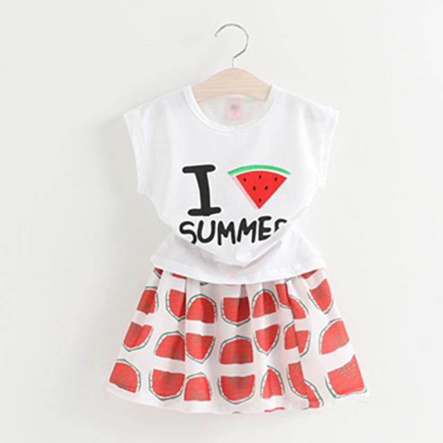 2017 Summer Fashion Set Muchacha Del Niño Ropa de La Muchacha Cortocircuitos Fijados Princesa Vetement Enfant Fille Lindo Conjunto Corto de Fille