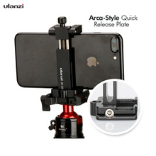 Ulanzi ST-03 Smart Phone Tripod Mount Clamp Smartphone Holder Adapter with Cold Shoe for iPhone Andriod BY-MM1 Led Light ulanzi st 02s 65mm to 95mm tripod phone mount with cold shoe 1 4 screw phone mount stand clipper for iphone x 8 7 plus samsung