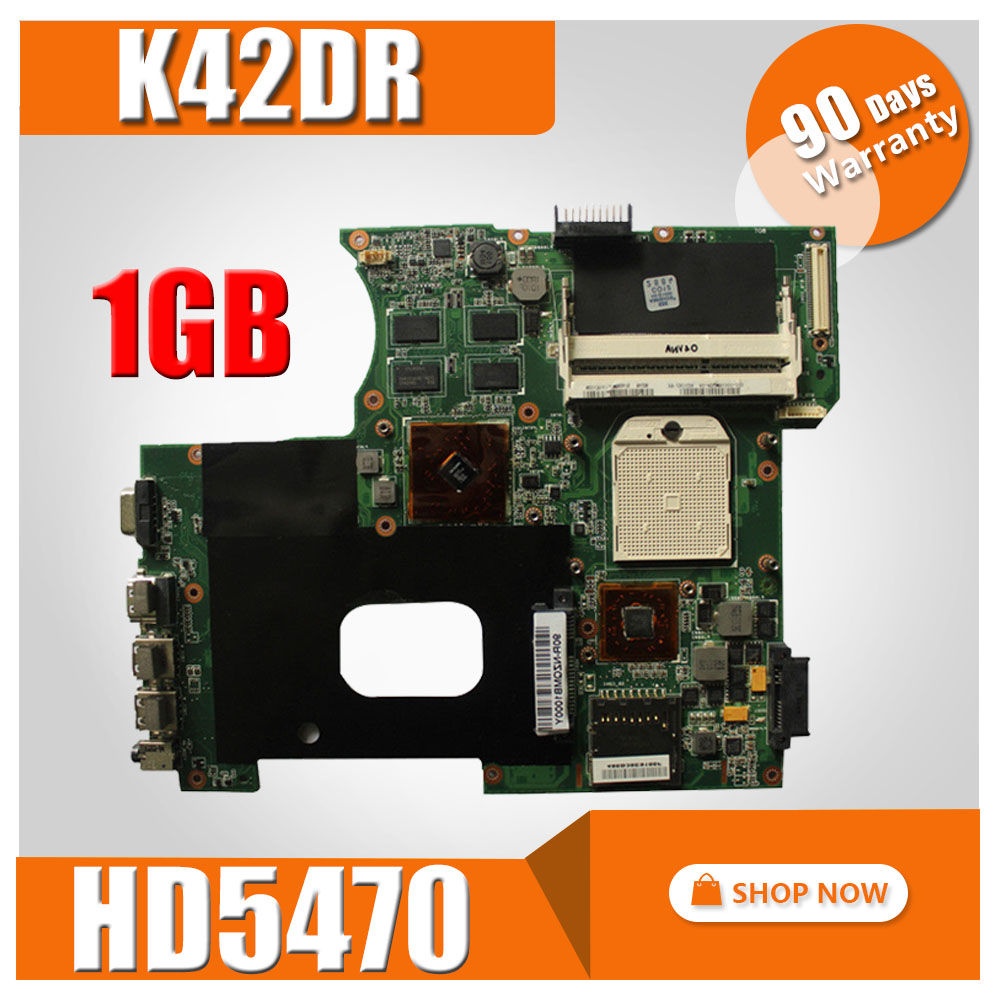 K42DR Motherboard HD5470 1GB For ASUS A42D K42D K42DY K42DR Laptop motherboard K42DR Mainboard K42DR Motherboard test 100% OK free shipping k42dr mainboard rev2 3 for asus a42d k42d k42dy k42dr laptop motherboard tested working