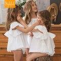 Ins princesa chica clothings establece flare manga tops y pantalones de las colmenas de la boda trajes de fiesta elegante sweet girl ropa del niño del bebé