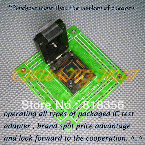 FPQ-100-0.5-10A Programmer Adapter CH-QFP100-0.5 QFP100/TQFP100 Adapter/IC SOCKET/IC Test Socket (Flip test seat)