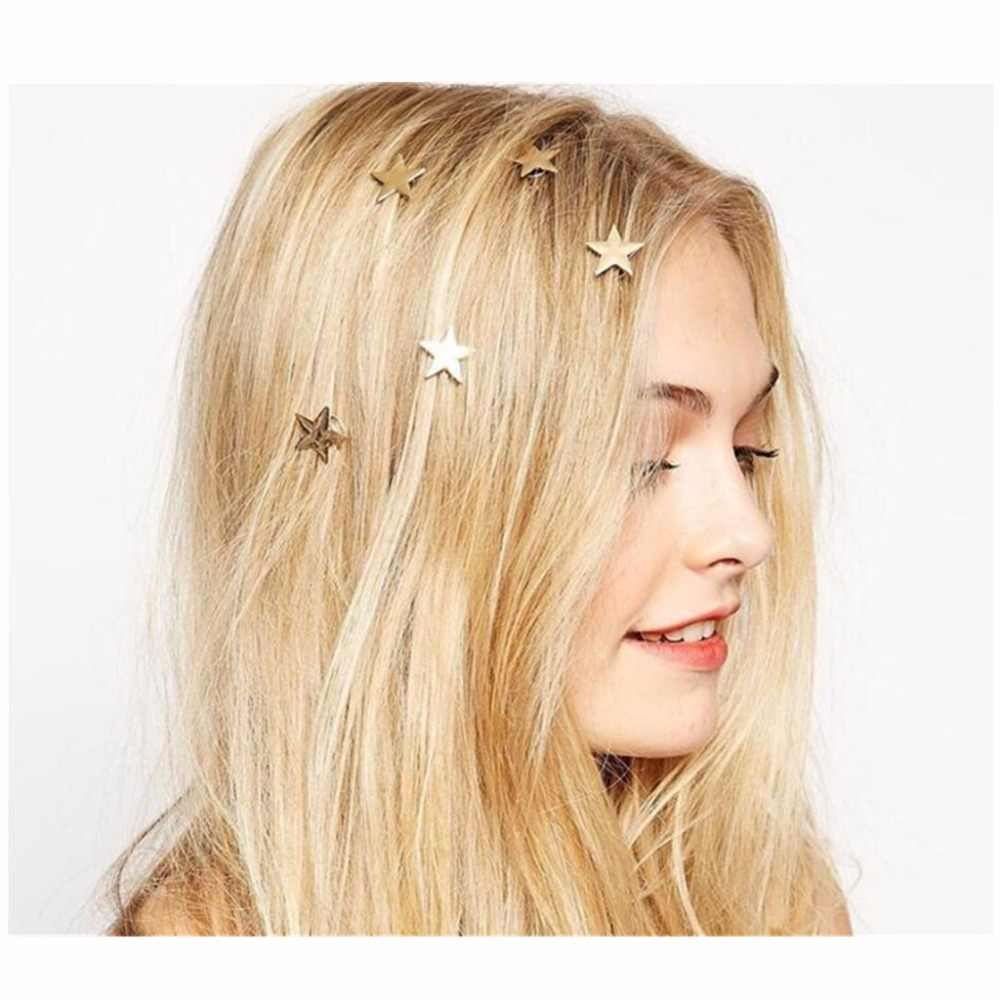 version of fashion jewelry cute personality wild hair ornaments moon star headdress Wedding Hair Comb Bridal Hair Accessories