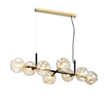 Led 현대 펜 던 트 조명 유리 거실에 대 한 현대 매달려 조명기구 홈 장식 램프 로프트 luminaire 북유럽 램프