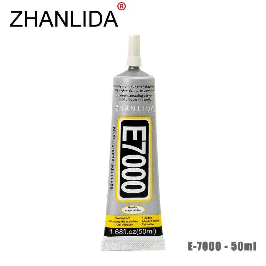 все цены на ZHANLIDA E7000 50ml Epoxy Resin Glue Cell Phone LCD Touch Screen Transparent Glue Glass Mirror Jewelery Repair Glue Gun онлайн