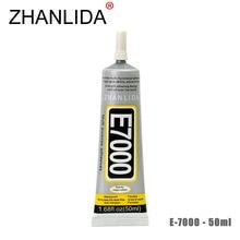 ZHANLIDA E7000 50ml Epoxy Resin Glue Cell Phone LCD Touch Screen Transparent Glue Glass Mirror Jewelery Repair Glue Gun