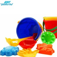 LeadingStar 6PCS Kids Colorful Beach Toy Set With 1 Pail 1 Rake 1 Dipper And 3