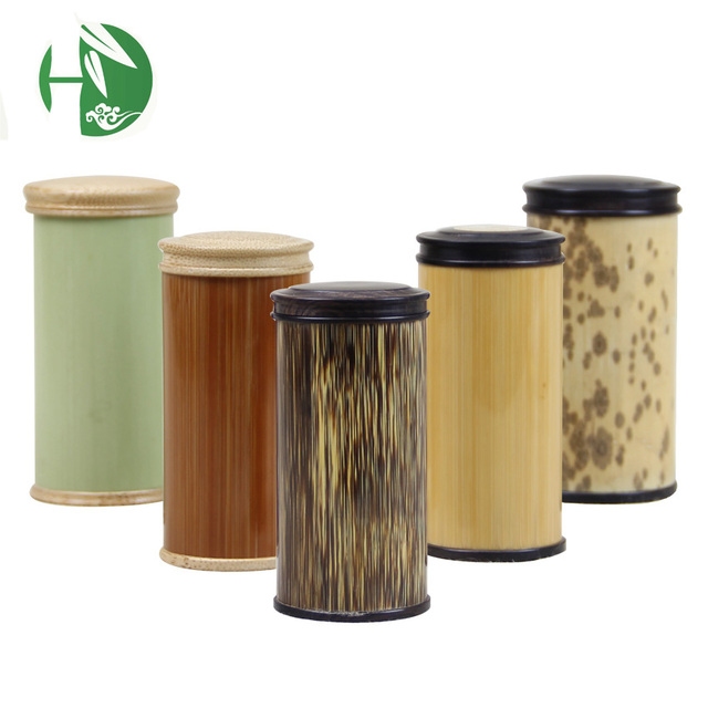 bamboo wooden mini tea canister cabinet boxes of storage container