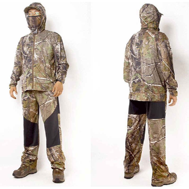 Outdoor jungle camouflage hunting clothes bionic suit breathable sun protection clothing fishing clothes hunting ghillie suit jungle new outdoor men s recreational fishing hunting baseball cap bionic camouflage