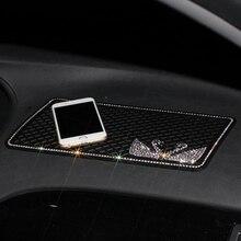 Car Ornament Silicone Diamond Swan Non-Slip Mat Anti-slip Anti-shock Sticky Pad Automobiles Dashboard Decor Phone Holder 29*15CM