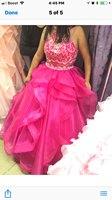 Pink Quinceanera Dresses 2017 Off Shoulder Beads Organza Ball Gown Long Prom Party Dress Vestidos De