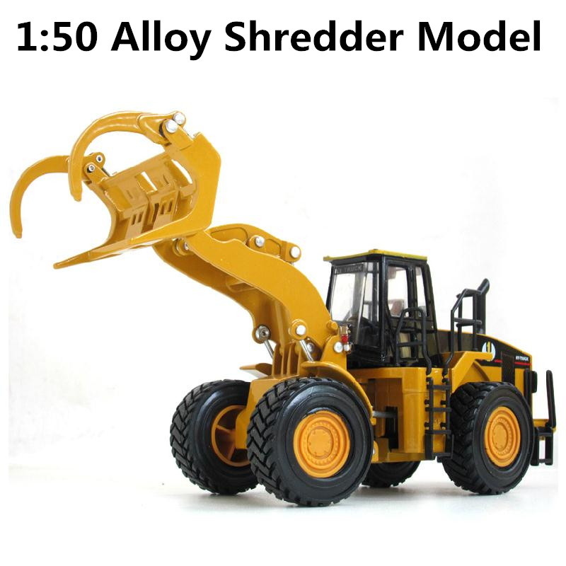 1:50 alloy engineering vehicles, high simulation model of logging car,children's educational toys, free shipping
