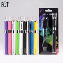 ECT EVOD MT3 Electronic Cigarette starter kits MT3 Atomizer 650,900,1100mah EVOD Battery Ego MT3 EVOD Blister E Cigarette Kits
