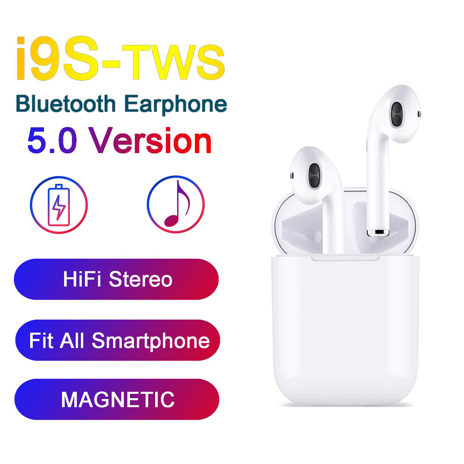 Mini I9S <font><b>TWS</b></font> Headphones Wireless <font><b>5.0</b></font> <font><b>Bluetooth</b></font> Earphones For Iphone X 8 Plus Samsung S10 S9 Xiaomi 9 Earbuds PK I7S I12 <font><b>I11</b></font> image