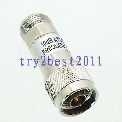Attenuator N plug to jack pin 2W 2 Watts 10dB DC-3.0GHZ 50ohm RF coaxial Power [vk] 553602 1 50 pin champ latch plug screw connectors