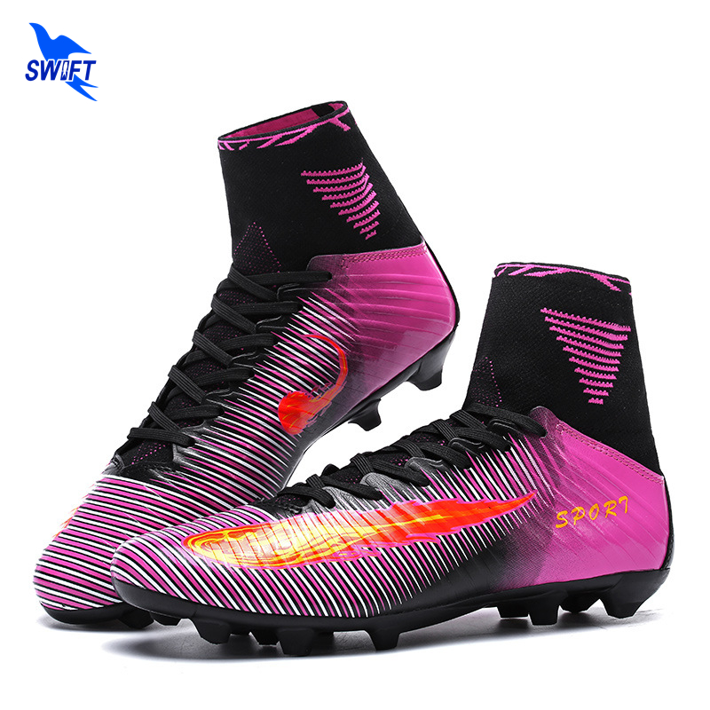Size 35-44 High Ankle Mens FG Soccer Boots 2017 Top Original Football Shoes Cheap Superfly Futsal Cleats Women Fotball Sneakers