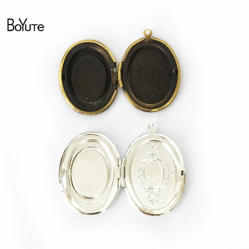 Wholesale Lots Bronze Tone Photo Oval Locket Frame Pendants 34x24mm