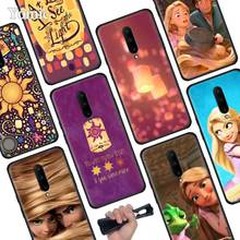 Anime Tangled Princess Black Soft Case for Oneplus 7 Pro 7 6T 6 Silicone TPU Phone Cases Cover Coque Shell