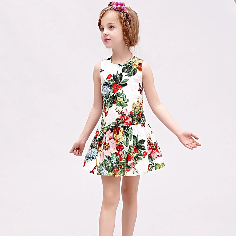 Подробнее о Cute Princess Party Floral Dress Girls Summer Dresses 2017 New Brand Kids Clothes Girl Costumes Flower Dress Children Clothing milan creations baby girl dresses kids clothes 2017 brand children costumes for girls princess dress floral pattern girls dress