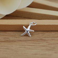 10pcs) New S925 Stering Silver Starfish Charm Dangle Pendant for Bracelet Necklace Fashion Jewelry Findings DIY new lemon starfish costly necklace