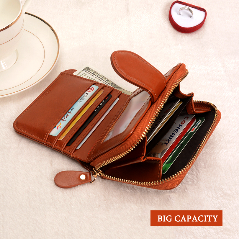 COHEART Wallet Women Fashion Purse Female Wallet leather pu multifunction purse small money bag coin pocket Wallet Top Quality ! 5