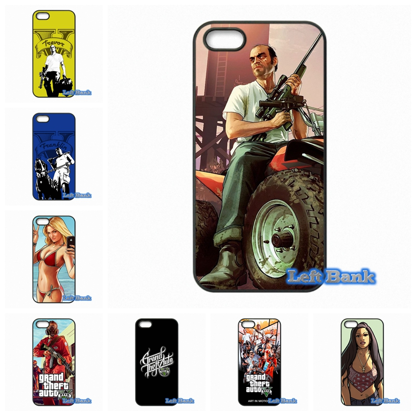 GTA grand theft auto 5 V Phone Cases Cover For Apple iPhone 4 4S 5 5C SE 6 6S 7 Plus 4.7 5.5 iPod Touch 4 5 6