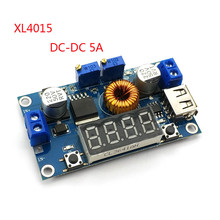 DC-DC 5A Digital LED Drive Lithum Battery Charger Module CC/CV USB Step Down Buck Converter With Voltmeter Ammeter