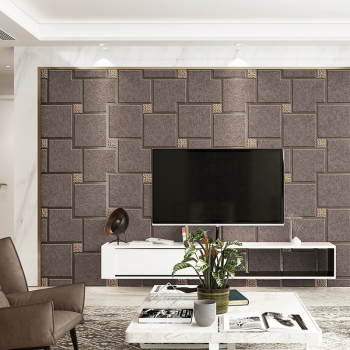 Luxury modern European mosaic grid wallpaper 3D Luxury Living Room Bedroom Wallpaper Decorative home wallpaper for