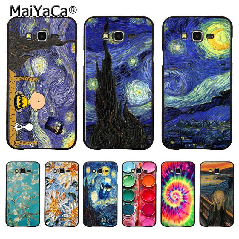 MaiYaCa Çığlık tarafından Munch Van Gogh Yıldızlı Gece Yıldız Paleti telefon kılıfı için samsung j7 j2pro j6 j4 j8 note9 s10plus kılıfı coque