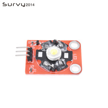 3W High-Power KEYES LED Module with PCB Chassis for Arduino STM32 AVR High Quality keyes kt0053 breadboard ceramic capacitors resistors more for arduino multicolored