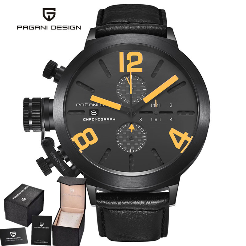 2017 NEW Pagani design luxury brand watches men Military Leather font b Men s b font