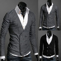 Double-breasted men cloth imported abb cardigan sweater coat men's double breasted cardigan sweater knitted cashmere sweater