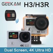 "H3R GEEKAM H3 4 K Acción Cámara Cámara 1080 P HD Wifi Cámara de Vídeo Del Deporte 170D de Ángulo Ancho 2 ""doble Pantalla 30 M Impermeable Wifi Cam"