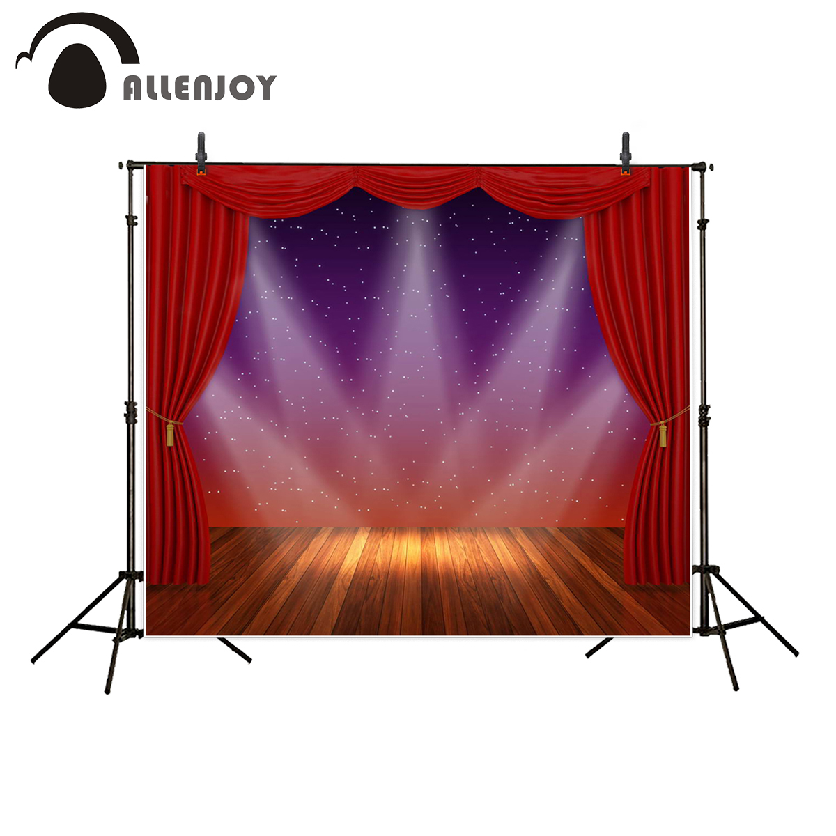 Cheap black stage curtains - Allenjoy Photography Backdrops Stage Lighting Curtain Red Background Photography Backdrop For Photo Studio 200 300cm